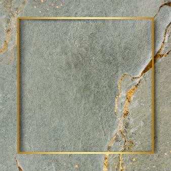 Goldener rahmen auf marmoriertem hintergrund