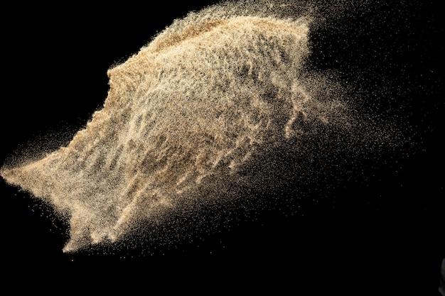 Goldener sandexplosionshintergrund