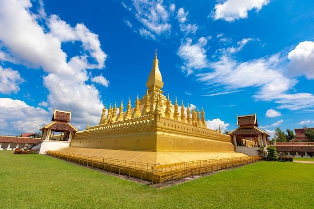 Goldener tempel in laos.