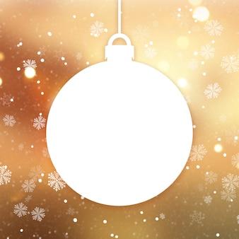 Goldener weihnachtshintergrund mit weihnachtsflitter