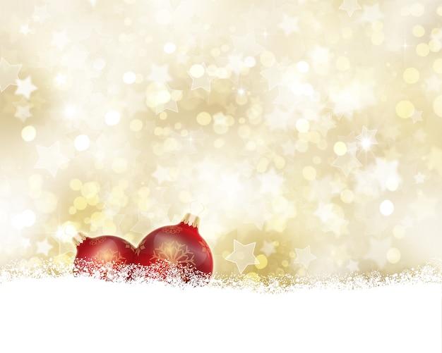 Goldener weihnachtshintergrund