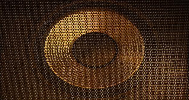 Goldenes abstraktes gitter als hintergrund.