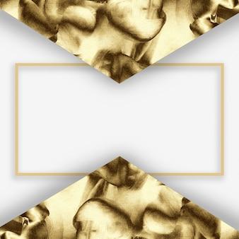 Goldenes abstraktes minimales schablonendesign.
