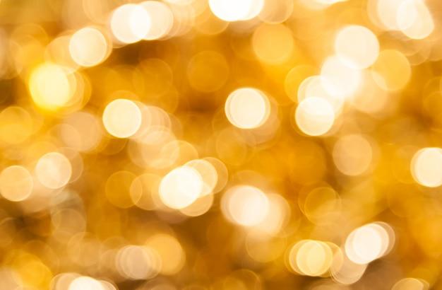 Goldenes bokeh