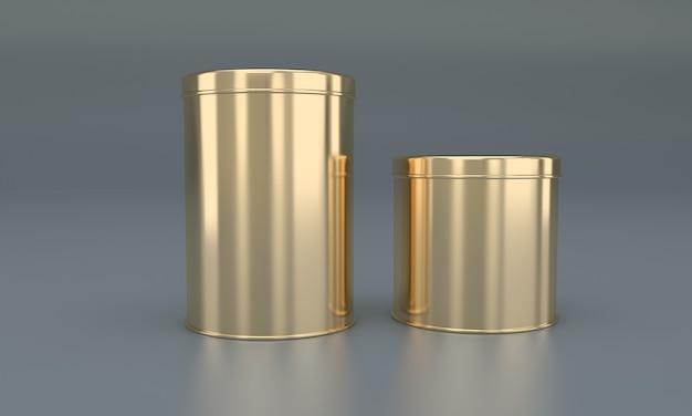 Goldenes essen in metalldose