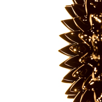Goldenes ferromagnetisches flüssiges metall mit kopienraum