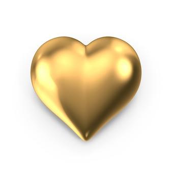 Goldenes herz zum valentinstag