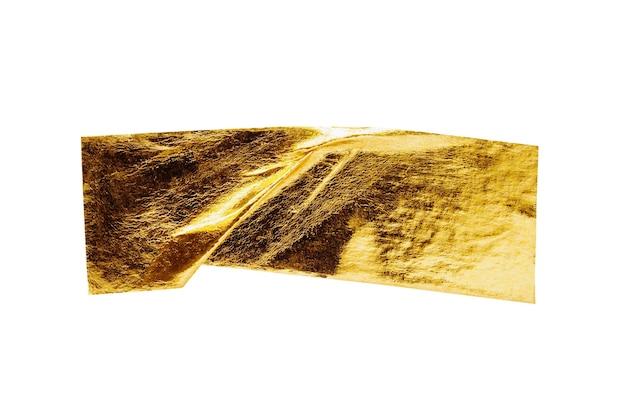Goldfolienklebeband isoliert auf weißem hintergrund