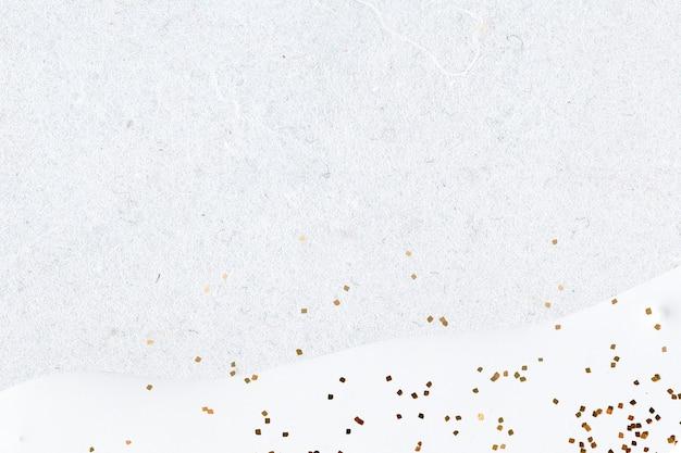 Goldglitter auf abstraktem weißem hintergrund
