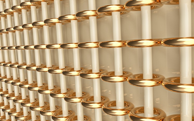 Goldkreisring abstrakter geometrischer hintergrund 3d-rendering helle tapete