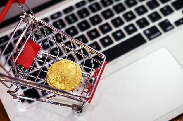 Goldmetall bitcoin-kryptowährungsanlage
