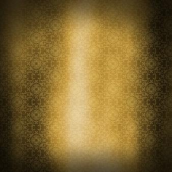 Goldmetallischer beschaffenheitshintergrund mit dekorativem muster