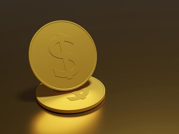Goldmünzen bargeld geld in haufen