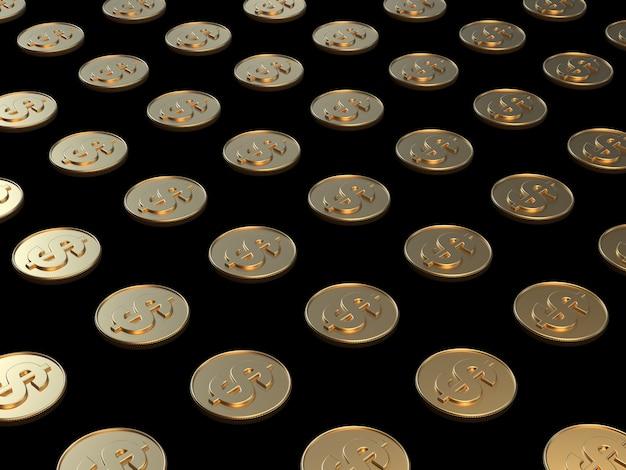 Goldmünzendollarsymbolgeschäfts-wirtschaftskonzept der wiedergabe 3d