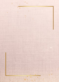 Goldrahmen auf rosa karte