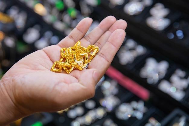Goldschmuck im gold shop