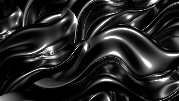 Goldseide oder stoff mit 3d-illustration der metallischen reflexe hintergrunddarstellung