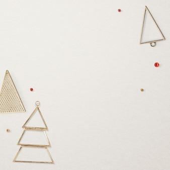 Goldweihnachts-social-media-posthintergrund mit designraum