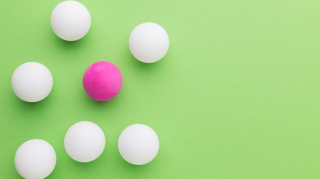 Golfbälle mit kopierraum