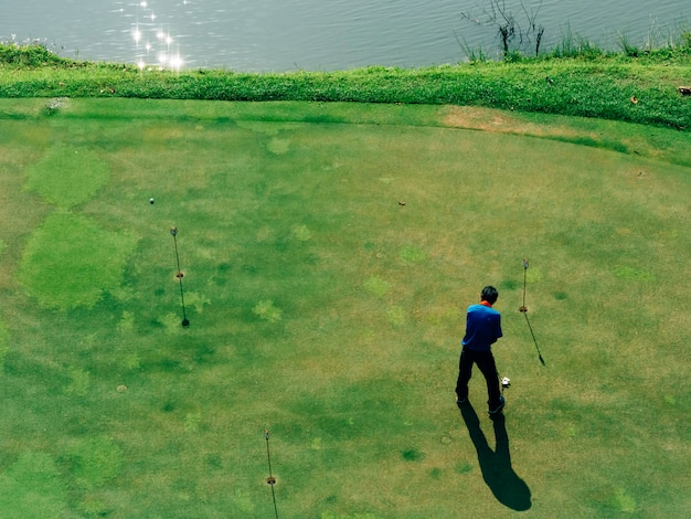 Golfspieler-erholungsaktivität