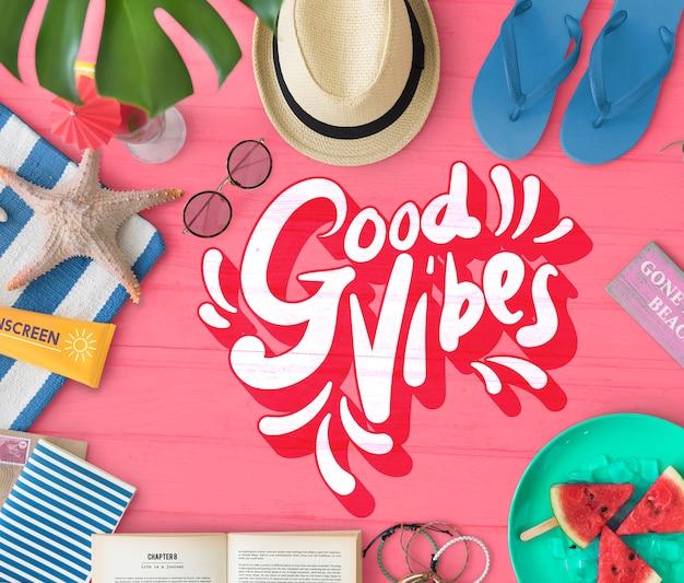 Good vibes positive motivation inspiration konzept