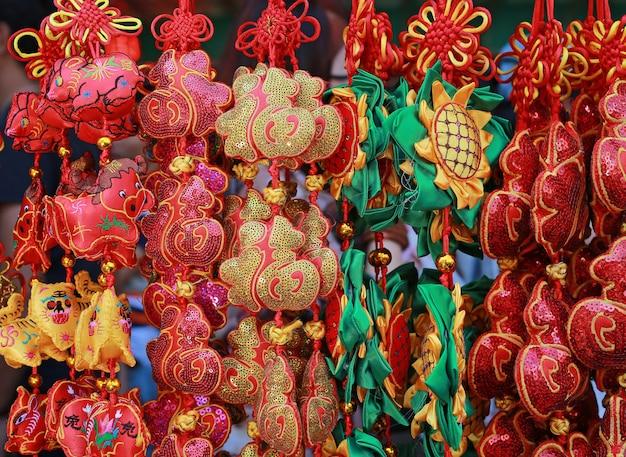 Goodluck-artikel im verkauf während des chinesischen neuen jahres