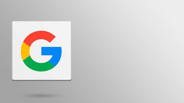 Google-logo auf 3d-plattform