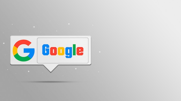 Google-logo auf sprachblase 3d rendern