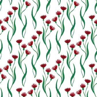 Gouacheblumen, die muster wiederholen.