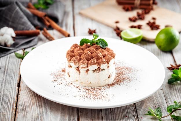 Gourmet-biskuitschokoladenstreusel und minze