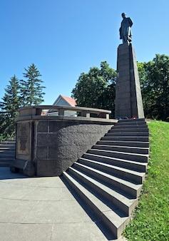 Grab und museum von taras shevchenko (1939, bildhauer m.manizer, architekt e. levinson). kaniv-stadt, ukraine.