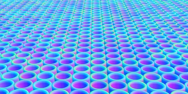 Gradient runder balkenhintergrund 3d-illustration der kreisförmigen struktur