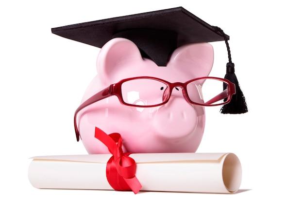 Graduierte piggy bank