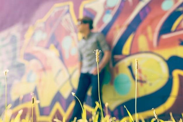 Graffiti auf hintergrund