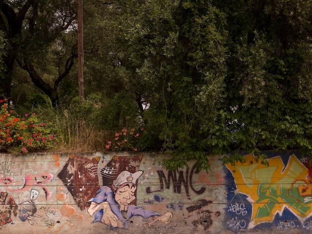 Graffiti auf korfu