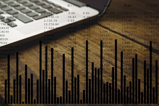 Grafik auf einem laptop