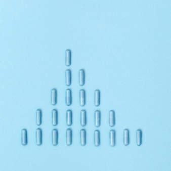 Grafik aus pharmazeutischen medizinpillen