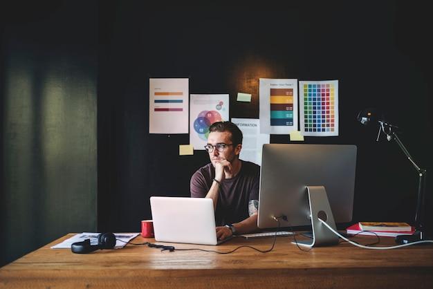 Grafik-designer editor workplace concept