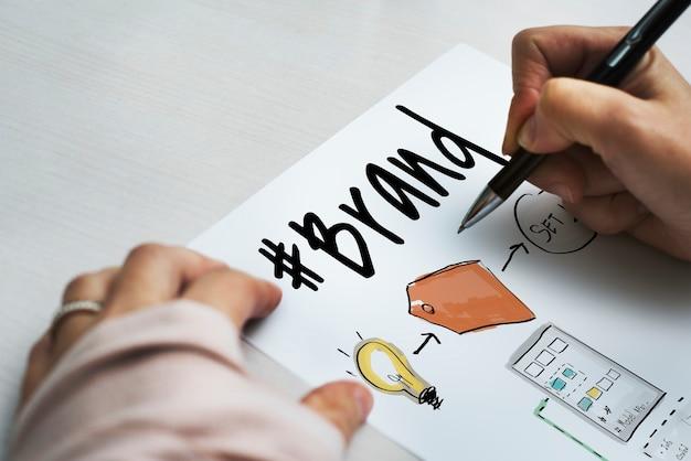 Grafik für business-branding-etiketten
