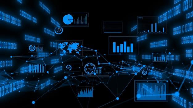 Grafik zur visualisierung von geschäftsdaten und finanzzahlen