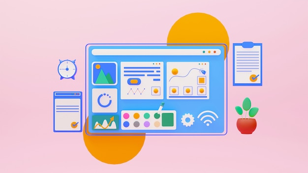 Grafikdesign-website mit anwendungen und tools