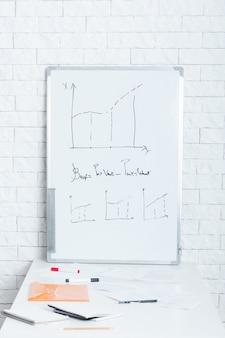 Grafiken auf whiteboart im büro