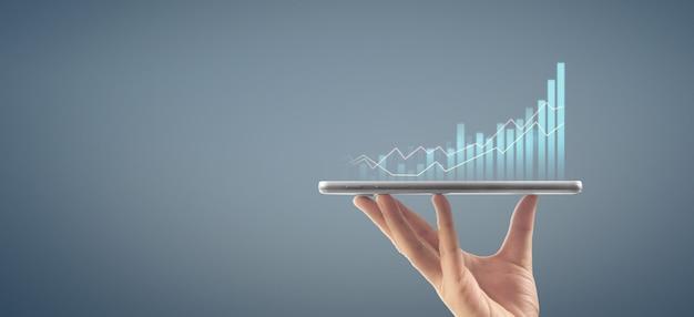 Grafikwachstum und steigerung des chartgeschäfts