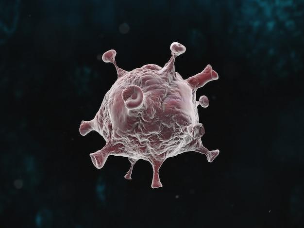 Grafische darstellung der coronavirus-pandemie auf dunklem hintergrund
