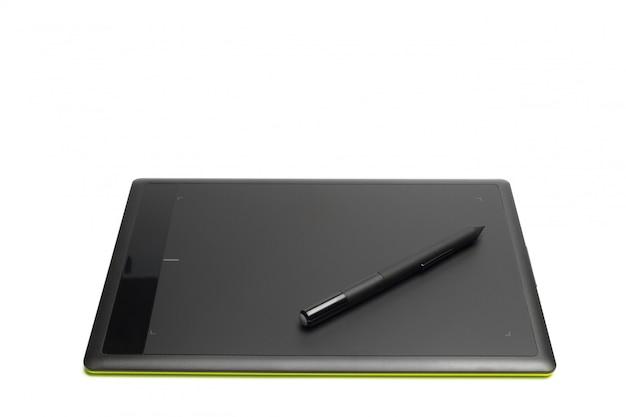 Grafische tablette mit stift für illustratoren und designer, lokalisiert