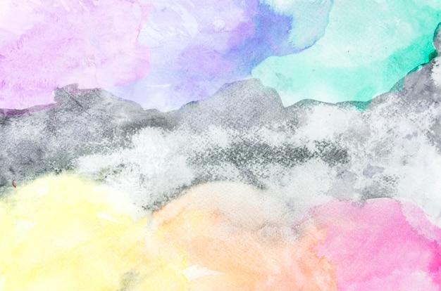 Grafischer abstrakter hintergrund des bunten aquarellbürstenanschlags