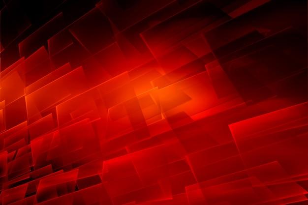 Grafischer abstrakter roter themahintergrund mit transparenten oberflächen