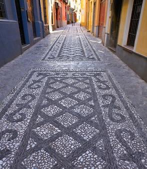 Granada-steinmosaikboden realejo spanien