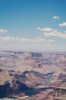 Grand canyon-naturgesamtlänge in arizona usa