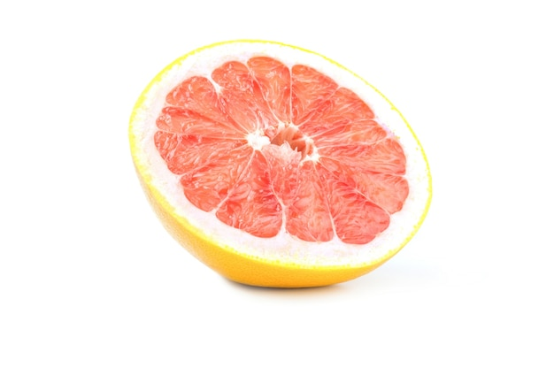 Grapefruit lokalisiert auf einem weiß mit beschneidungspfad